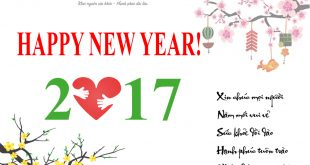 Thư cảm ơn và chúc mừng năm mới 2017