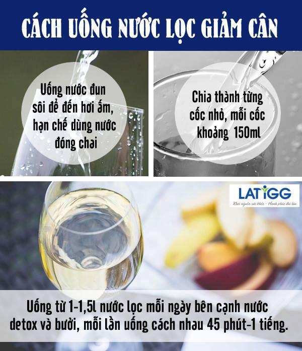 Bật mí cách giảm 4 – 5 kg sau Tết trong 7 ngày bằng các loại nước khác nhau