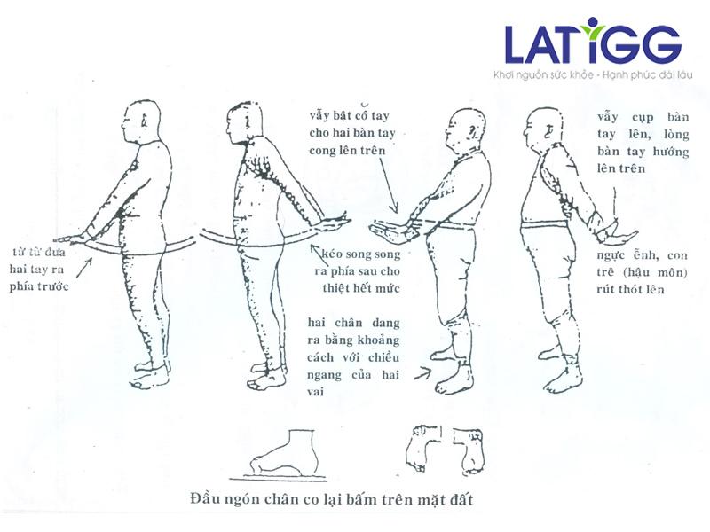 Cách tập dịch cân kinh vẫy tay cho người rối loạn tiền đình Dịch cân kinh vẫy tay cho người rối loạn tiền đình!
